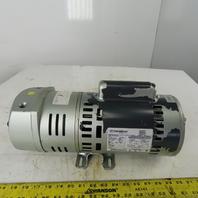 Gast 3/4HP Rotary Vane Vacuum Pump 115/230 Single Phase 1725RPM