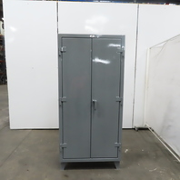 """Strong Hold 3 Shelf Industrial Tool Parts Double Door Storage Cabinet 36x24x78"""""""