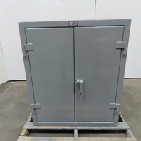 """Strong Hold 2 Shelf Double Door Industrial Tool Parts Storage Cabinet 36x20x42"""""""