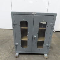 """Strong Hold 2 Shelf Double Door Industrial Tool Parts Storage Cabinet 36x24x42"""""""