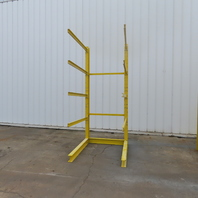 """Single Sided Cantilever Wood Steel Material Storage Rack 52-1/4x65-1/2x119-1/2"""""""