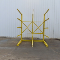 """Single Sided Cantilever Wood Steel Material Storage Rack 100-1/4x65-1/2x119-1/2"""""""