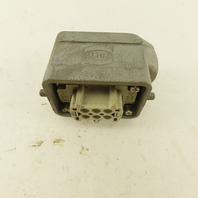 Harting Han-E6F 6 Position Angled Connector And Shield Assembly 16A 600V