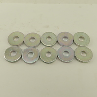 10mm Spacer Washer 30mm OD 5mm Thick Brite Finish Lot Of 10
