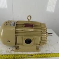 "Delco 7.5Hp Electric Motor 460V 3Ph 256U Frame 1170RPM  1-3/8"" Shaft Rebuilt"