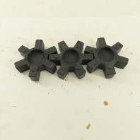 Lovejoy L-099 L-100 Flexible Jaw Coupling NBR Rubber Spider Lot Of 3