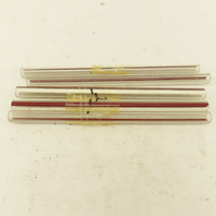 """Pyrex Standard Red Line Glass Gage Tube 1/2"""" x 8"""" Lot Of 5"""