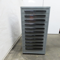 """Equipto 11 Drawer Industrial Parts Tool Storage Shop Cabinet 30""""x28""""x59"""