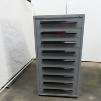 """Equipto 9 Drawer Industrial Parts Tool Storage Shop Cabinet 30""""x28""""x59"""
