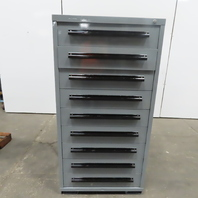 """Equipto 9 Drawer Industrial Parts Tool Storage Shop Cabinet 30""""x28""""x59"""""""