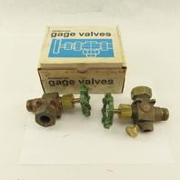 "Penberthy 64250-040 3/4"" Bronze Sight Gage Valve Set 3/4 Tube Compression"