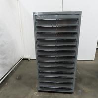"Lista 13 Drawer Industrial Parts Tool Storage Shop Cabinet 28-1/4""x28""x59-1/2"""