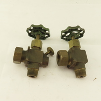"Penberthy 64250-040 3/4"" Bronze Sight Gage Valve Set 3/4 Tube Compression Lot/2"