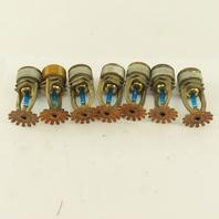 "3/4"" NPT Standard Fire Sprinkler Head Pendant 286° Lot Of 7"