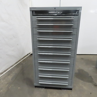 """11 Drawer Industrial Parts Tool Storage Shop Cabinet 28-1/4""""x28""""x59-1/2"""""""