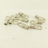 "Burndy YAV26L3 AN2/0 Wire 1/2"" Stud Tin Coated Copper Lug Lot Of 10"