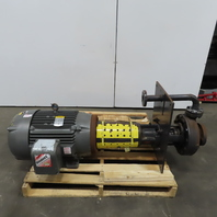 Gusher GL1.5x3-10SESCDMADP 40HP Vertical Centrifugal Pump 3530RPM  230/460 3Ph