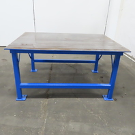 """3/8"""" Thick Top Steel Fabrication Layout Welding Table Work Bench 53""""x39""""x26-3/4"""""""