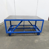 """3/16"""" Thick Top Steel Fabrication Layout Welding Table Work Bench 60x31x31-1/4"""""""