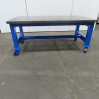 """1-7/8"""" Thick Steel Fabrication Layout Welding Table Work Bench 75""""x36""""x32-1/2"""""""
