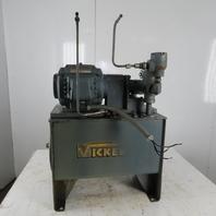 Vickers 14gal Hydraulic Power Unit W/Reliance  3/4hp Electric Motor 230/460V 3Ph