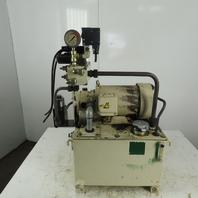 Nachi VDR-1B-1AS-U-1146K 3Hp 10 Gal. Hydraulic Power Unit 45Kg/cm2 25LPM