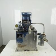 Tec-Hackett F-2258-01 5Hp 20 Gal. Hydraulic Power Unit 9.5 GPM 4250 PSI Max.