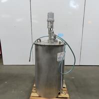 Autoquip Inc. 80 Gallon Stainless Steel Mix Storage Tank W/224-350 Graco Pump