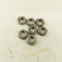 Whittet-Higgins N00 Carbon Steel Bearing Retaining Nut .391-32 Thread Lot Of 7