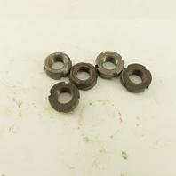 Whittet-Higgins N01 Carbon Steel Bearing Retaining Nut .469-32 Thread Lot Of 5