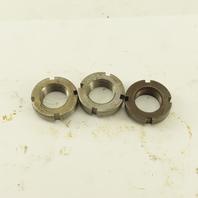 Whittet-Higgins N-03 Carbon Steel Bearing Retaining Nut .664-32 Thread Lot/3