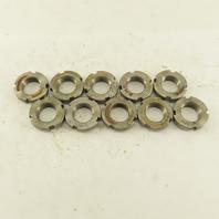 Whittet-Higgins N-04 Carbon Steel Bearing Retaining Nut .781-32 Thread Lot/10