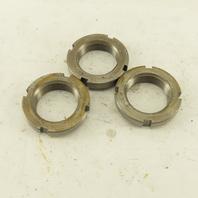 Whittet-Higgins N-06 Carbon Steel Bearing Retaining Nut 1.173-18 Thread Lot Of 3