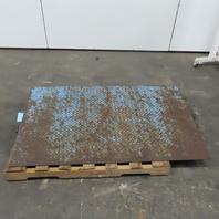 "Steel Plate Floor Scale Ramp  60"" x 36"" x 4"""