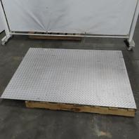 "Steel Plate Floor Scale Ramp  60"" x 42"" x 3-3/4"""