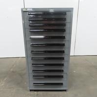 "Stanley Vidmar 12-Drawer Industrial Parts Tool Storage Shop Cabinet 30""x28""x59"""