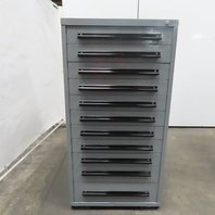 """Equipto 11 Drawer Industrial Parts Tool Storage Shop Cabinet 30""""x28""""x59"""""""