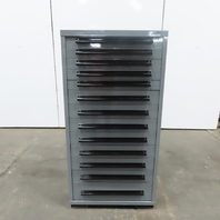 """Equipto 13 Drawer Industrial Parts Tool Storage Shop Cabinet 30""""x28""""x59"""""""