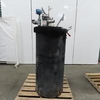 75 Gallon Vertical Stainless Steel Liquid Mixing Tank Pneumatic Agitator