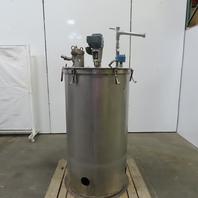 120 Gallon Vertical Stainless Steel Liquid Mixing Tank 208-230/460V 3Ph Agitator