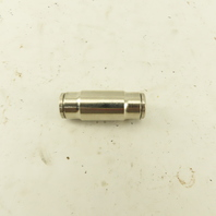 10mm X 10mm Tube Push To Connect Connector Splice Nickle Plated Brass