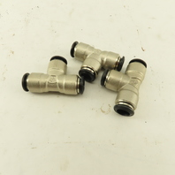 10mm Push To Connect Tube Stainless Steel Union Tee Lot Of 3