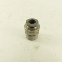 3/8 Tube Push To Connect 1/2 NPT Straight Connector Stainless Steel