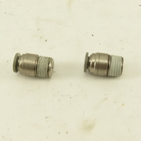 1/4 Tube Push To Connect 1/4 NPT Straight Connector Stainless Steel Lot Of 2