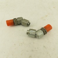 """3/8"""" Tube 3/4-16 (-8) Male Flare X 3/4-16 ORB 45° Elbow Lot Of 2"""