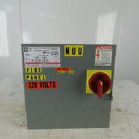 Square D SK3000G2 3Kva Transformer Disconnect 230/460V PRI 120V Sec