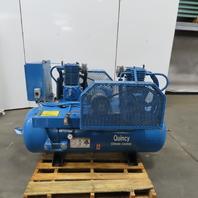 Quincy QC03008DX3 80 Gallon Horizontal 3Hp Duplex Air Compressor 208-230/60V 3Ph