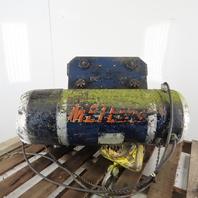 CM Chisholm-Moore 5815 1-1/2Ton Electric Hoist Wire Rope 480V 3Ph 15' Lift 18FPM