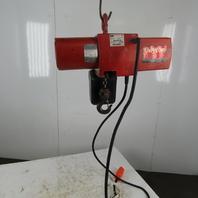 Dayton 3YB73 1-1/2 Ton Electric Chain Hoist 230/460V 3Ph 10' Lift 16FPM