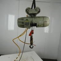 P&H 1 Ton Wire Rope Electric Hoist 15' Lift 20FPM 230/460V 3Ph W/Trolley